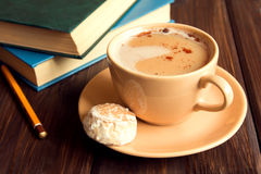 Coffee and books Royalty Free Stock Photos