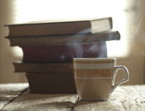 Coffee and Books Royalty Free Stock Photography
