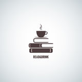 Coffee and books design background Stock Photos