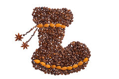Coffee Boots Royalty Free Stock Photos