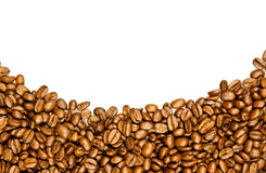 Coffee Border.  brown coffee beans Stock Image