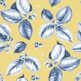 Coffee branches pattern. royalty free illustration
