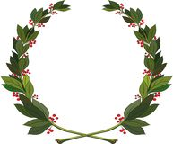 Coffee branches wreath. Symbol of victory and achievement. Design element for construction of medals, awards, coat of arms or anniversary logo. Vector stock illustration