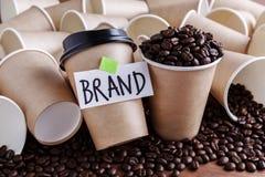 Coffee brand building Royalty Free Stock Photo