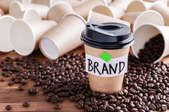 Coffee branding concept stock photos