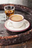 Coffee with brandy Stock Images