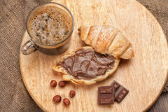 Coffee, Bread And Chocolate Royalty Free Stock Photo