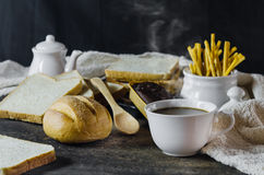 Coffee and bread Royalty Free Stock Photo