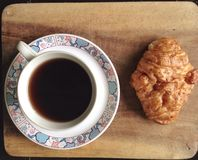 Coffee bread on summer Stock Photo