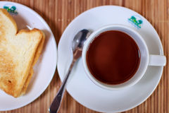 Coffee and bread Royalty Free Stock Image