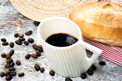 Coffee and breads Royalty Free Stock Photos