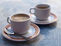 Coffee break. Coffee - Spanish espresso and cortado royalty free stock photography