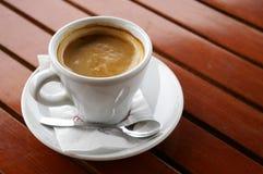 Coffee Break. Hot italian espresso with milk Stock Photos
