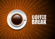 Coffee break. A cup of coffee on an abstract background Stock Images