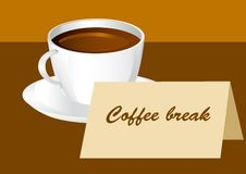 Coffee break. Cup of cofee for coffee break Royalty Free Stock Photo
