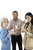Coffee break. Three business people have a coffee break together,more photos with those models in stock photography