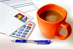 Coffee Break And Working Royalty Free Stock Images
