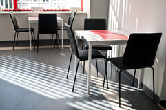 Coffee break area kitchen. Coffee break area with tables in the kitchen Stock Images