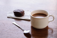 Coffee break with bakery Royalty Free Stock Images