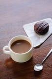 Coffee break with bakery Royalty Free Stock Photo