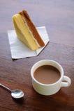 Coffee break with bakery Stock Photos