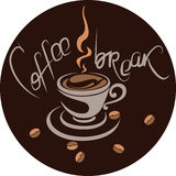 Coffee-break. Banner, poster, menu Royalty Free Stock Images