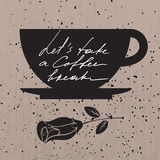 Coffee break banner. Royalty Free Stock Photo