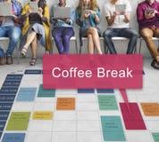 Coffee Break Beverage Cafe Drinking Enjoyment Concept Stock Photo