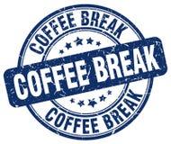 coffee break blue grunge round vintage stamp Royalty Free Stock Photos
