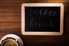 Coffee break board Stock Images