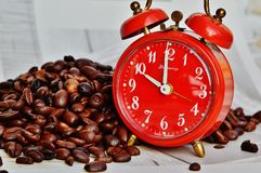 Coffee Break, Break, Alarm Clock Stock Images