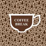 Coffee break brown background Stock Photos