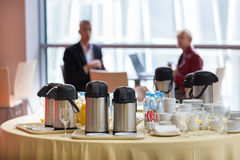 Coffee break at the business event. Stock Photos
