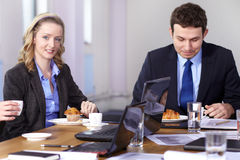 Coffee break during business meeting Stock Image