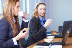 Coffee break during business meeting Royalty Free Stock Photos