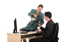 Coffee break business office Stock Image