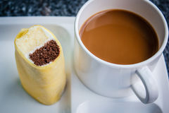 Coffee break with cake at business meeting. Stock Photography
