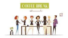 Coffee Break Cartoon Style Illustration Royalty Free Stock Photography