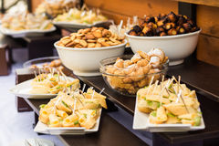 Coffee break, catering a business conference Stock Image