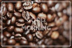 Coffee Break. Closeup of coffee beans background. Royalty Free Stock Photos