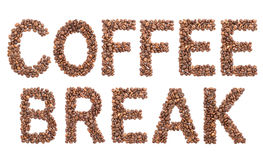 Coffee break from coffee beans. Royalty Free Stock Photography