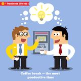 Coffee break collaboration Royalty Free Stock Photography