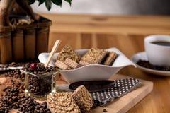 Coffee break concept, home organic theme Royalty Free Stock Image