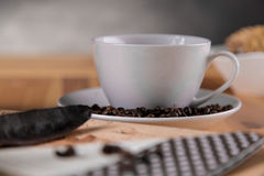 Coffee break concept, home organic theme Stock Image