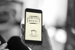 Free Coffee Break Concept On A Smartphone Stock Photos - 151698213
