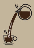 Coffee Break Conceptual Vector Illustration Royalty Free Stock Photo