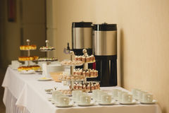 Coffee break at conference meeting. Stock Image