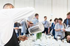 Coffee break at conference meeting. Stock Photo