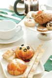 Coffee break and cookies Royalty Free Stock Photo