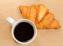 Coffee break and croissant Royalty Free Stock Photos